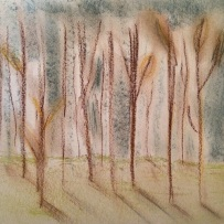 Trees. A Pastel Sketch