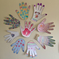 CoCreated Hand Art on the Office Wall at Home